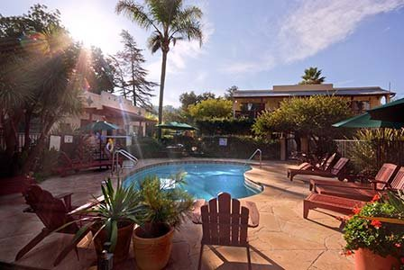 pool at Blue Iguana Inn in Ojai, California