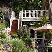 garden at 66 Center in Eureka Springs, Arkansas