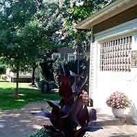 Porch at 66 Center in Eureka Springs, Arkansas