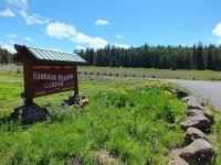 Hannagan Meadow Lodge sign