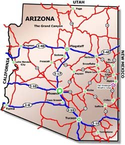 Map to Hannagan Meadow Lodge - Arizona White Mountains on the Coronado Trail