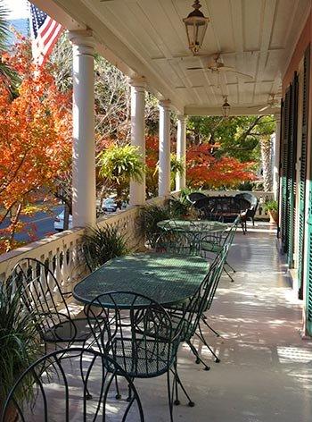 The Ashley Inn Piazza for Breakfast in Charleston, South Carolina