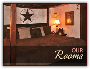 Guest Rooms at Whispering Pines Inn in Norman, Oklahoma