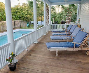 Surf Song Bed and Breakfast Photo 3 on Tybee Island, Georgia Side Porch