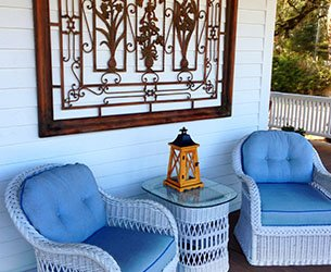 Porch Chairs at Surf Song Bed and Breakfast on Tybee Island, Georgia