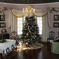 Christmas tree at Lockheart Gables in Fort Worth, Texas