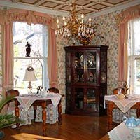 tearoom at Lockheart Gables in Fort Worth, Texas