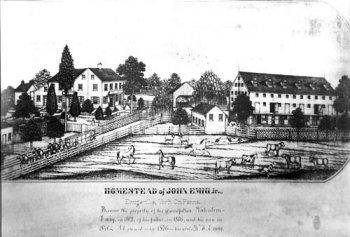 Drawing of Emig Mansion in Emigsville, Pennsylvania