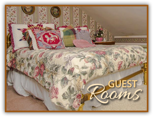 Guest Rooms at Historic Emig Mansion in Pennsylvania