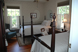 Guest Rooms at the Front Street Inn in Beaufort, North Carolina