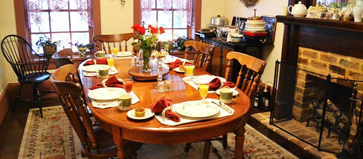 Dining Room At The Franklin House Bed And Breakfast In Jonesborough Tennessee