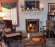 Living Room at Franklin House Bed and Breakfast in Jonesborough, Tennessee