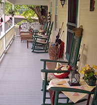 Front Porch at Franklin House B&B