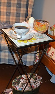 Side Table At Franklin House Bed And Breakfast