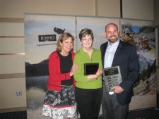 Ruth & Jim May Receiving Innkeepers of the Year Award 2012