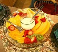 Fruit Basket at Reflection Inn Bed and Breakfast in Kooskia Idaho