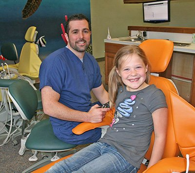 Dr. Hulse and Patient at Salem Smiles Dentist Office