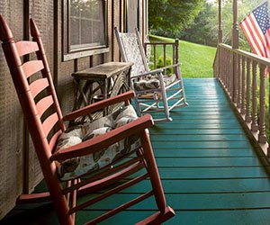 Front Porch at Hawley House Butterfly Cottage