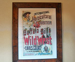 Wild West Sign at Trappers Rendezvous in Williams, Arizona