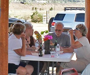 Group at Trappers Rendezvous in Williams, Arizona