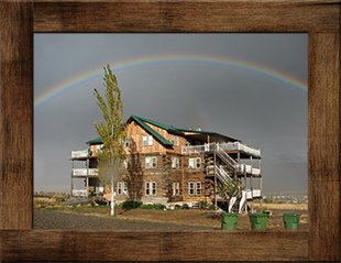 Rainbow at Syringa Lodge