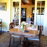 dining room at Kangaroo House on Orcas Island, WA