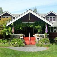 exterior of Kangaroo House on Orcas Island, WA