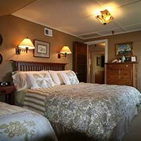 room at Kangaroo House on Orcas Island, WA