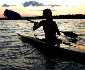 Kayaking near Kangaroo House on Orcas Island, Washington
