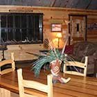 living area in Crazy Horse Cabin at Hochatown Junction in Broken Bow, OK