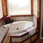 bathroom in Front Porch Lodge at Hochatown Junction in Broken Bow, OK