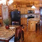 kitchen area in Front Porch Lodge at Hochatown Junction in Broken Bow, OK