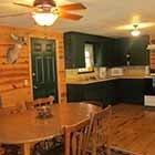 kitchen area in Triple Oaks Cabin at Hochatown Junction in Broken Bow, OK