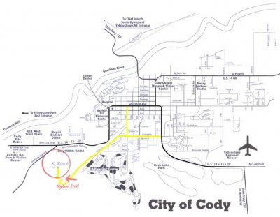 Cody WY Lodging Directions