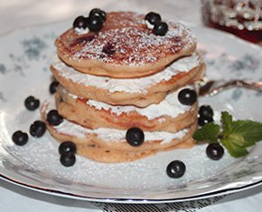Blueberry Pancakes at Columbus Street Inn in Fayette, Alabama