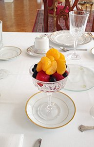 Fruit Breakfast at Confederate House B&B