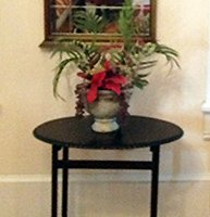 Side Table at Confederate House Bed and Breakfast