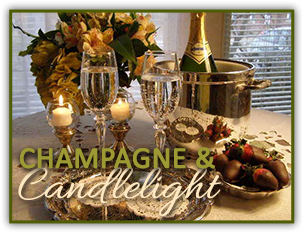 Champagne and candlelight