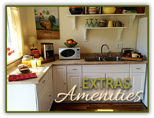 Estras & Amenities at Little Rock Cottages BnB