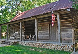Dogtrot Log Cabin at the Broadhead Memorial Park in Needham, AL
