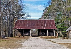 Dogtrot Log Cabin at the Broadhead Memorial Park in Needham, AL2