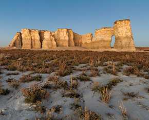 Monument Rocks and the Chalk Pyramids in Kansas
