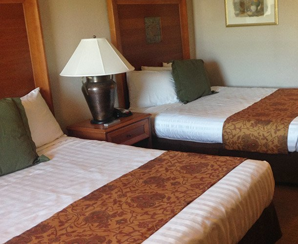 Double Room at the Lodge at Russell Motel in Kansas