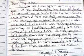 Testimonial for PineCrest Inn in Gorham, Maine