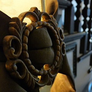 Detail of Woodwork at PineCrest Inn in Gorham, Maine