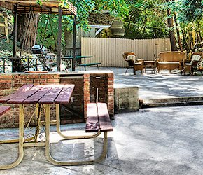 Events Area at Arrowhead Tree Top Lodge in Lake Arrowhead, California