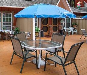 Patio Table at Arrowhead Tree Top Lodge