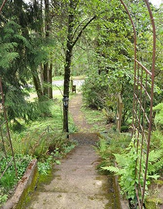 Pathway at Forest Springs Bed and Breakfast in Gresham, Oregon