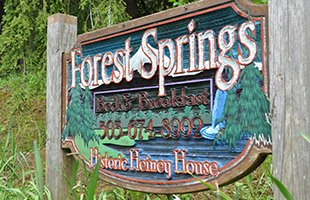 Forest Springs Bed and Breakfast Sign