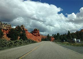 Highway 12 near Canyon Lodge Motel in Panguitch, UT Photo by Famartin